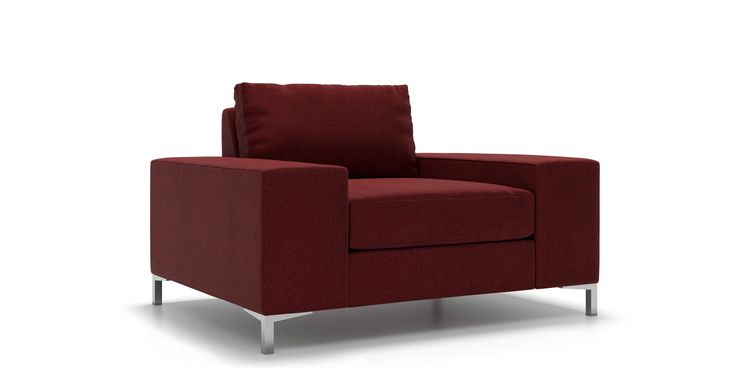 Tova Arm Chair in Red Merlot  Fabric by Kavuus.com (Made in Canada)