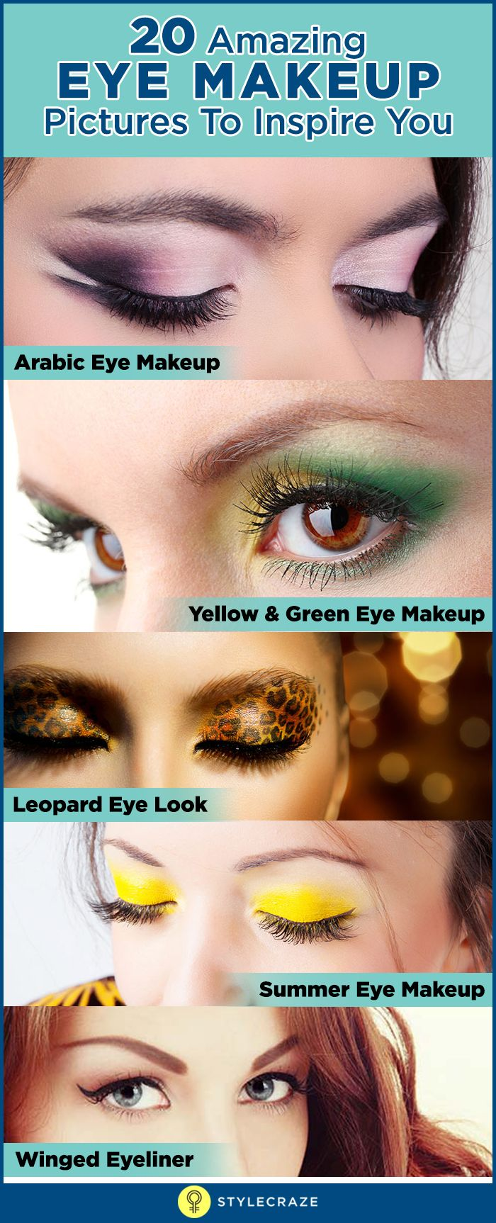 Top 20 Sexy Eye Makeup Looks. Check here some of the best eye makeup pictures which look amazing and inspiring.
