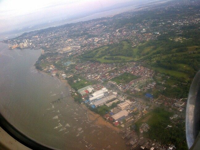 Took this picture from my flight return...Balikpapan city from above
