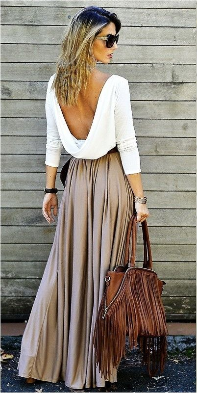 Long and Maxi Skirts Street Style (4)