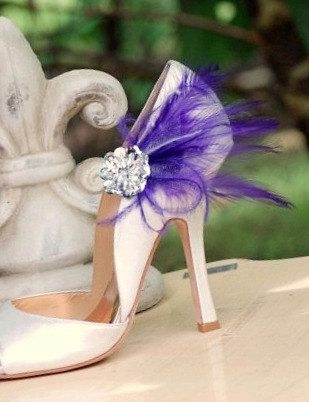 Bright, funky shoe clips