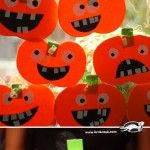 It's time for pumpkins – cut and glue