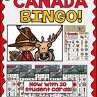 #Canada BINGO with 20 unique versions of student play boards! Free update if previously purchased!