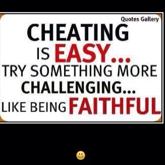 is cheating always wrong What's wrong with cheating is cheating always unethical - first of all, is it ethical to cheat that question can not be answered with a simple yes or no, there are more things that come into play such as, what are they cheating on.