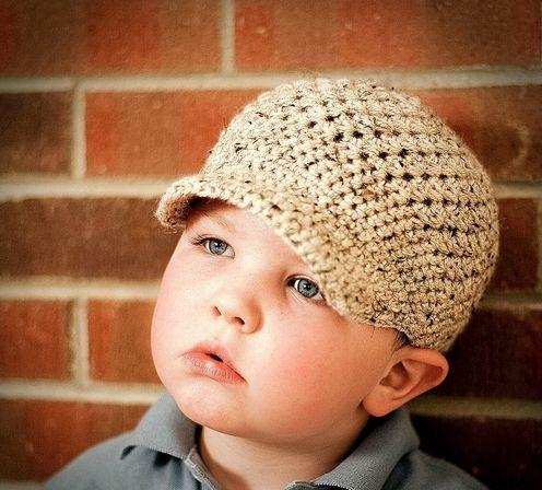 Crazy Easy Textured Newsboy Cotton Crochet Cap - Child & Adult Sizes
