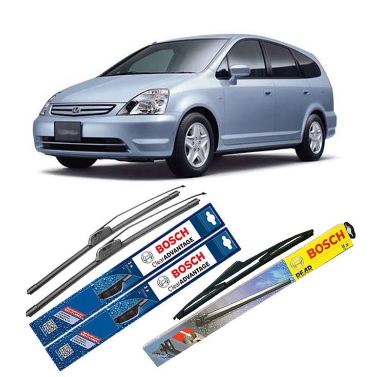 """Bosch Wiper Depan Frameless Clear Advantage + Belakang u/ Mobil Honda Stream 24"""" & 14"""" + H306 - 3 Pcs/Set  Frameless Umur Pakai & Daya Tahan Lebih Lama Penyapuan kaca yang senyap Performa Sapuan Optimal Instalasi Mudah & Cepat Original Produk Bosch  http://klikonderdil.com/frame-less/1229-bosch-wiper-depan-frameless-clear-advantage-belakang-u-mobil-honda-stream-24-14-h306-3-pcsset.html  #bosch #wiper #jualwiper #frameless #hondastream"""