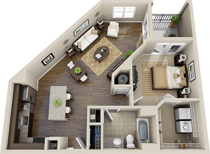 67 best 3d floor plans images on pinterest | architecture