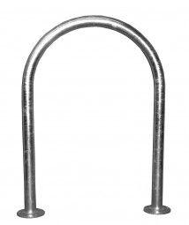 """https://www.bike-parker.de/anlehnbuegel/32/isar-1-zum-aufduebeln-universal-absperrbuegel?c=16 --  Universal-Bügel Modell """"Isar 1"""" zum Aufdübeln."""