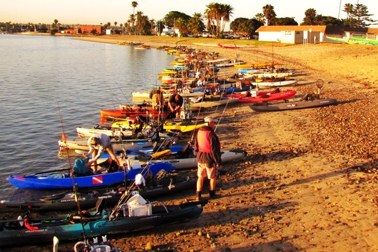 OEX Mission Bay Classic Kayak Fishing Tournament benefiting Heroes on the Water - 30 minutes before official launch time, 120 kayaks!