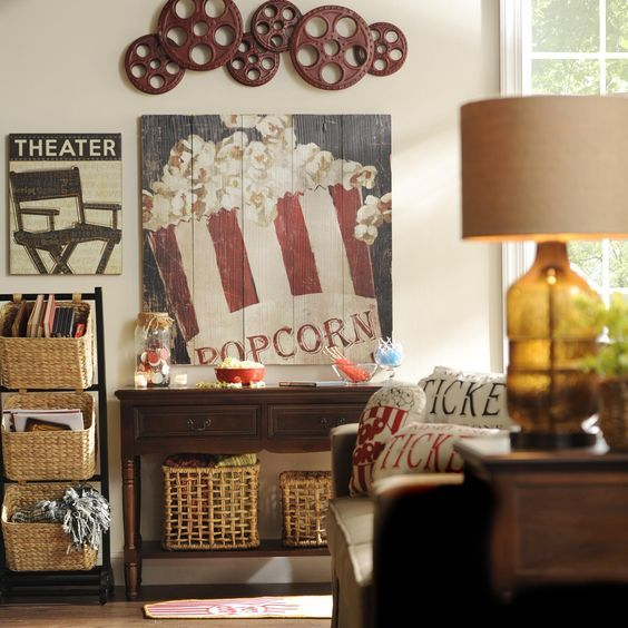 Wall Sconces For Media Room: Best Pallet Movie Theaters Ideas On Pinterest