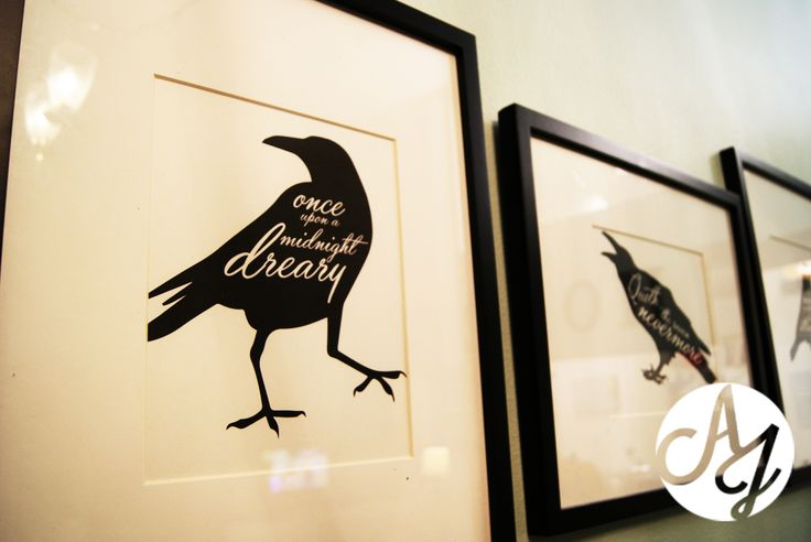 "Free prints & dinner party decor inspired by ""The Raven"""