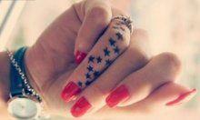 Татуировки на пальцах. Тату на пальце для девушек