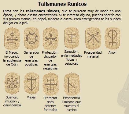 Talismanes rúnicos.