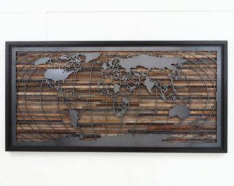 City skyline made from reclaimed barnwood and by CarpenterCraig