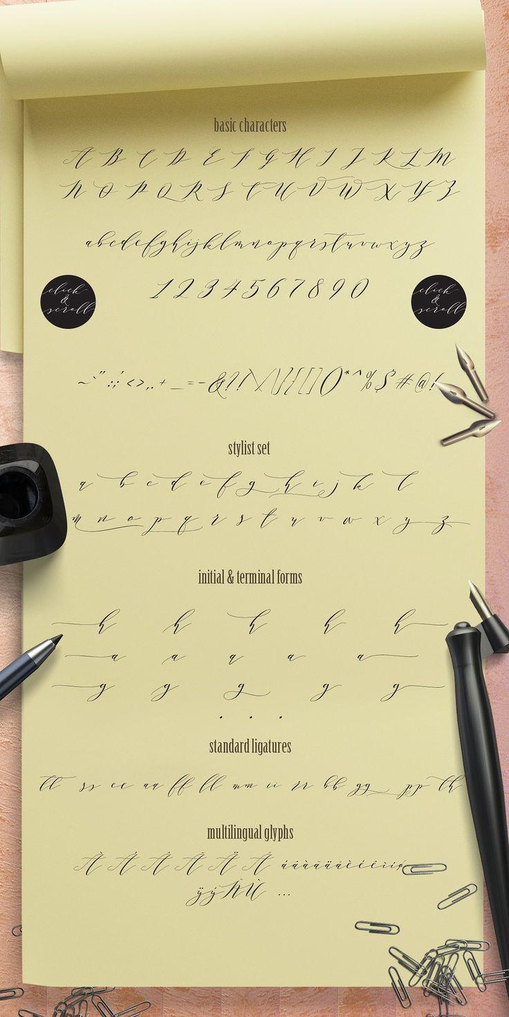 Melika Letter, Melika script family by JROH Creative on @creativemarket