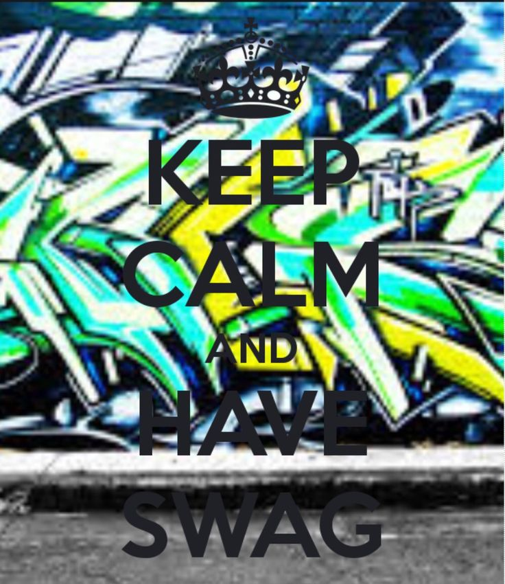You always need swag!!