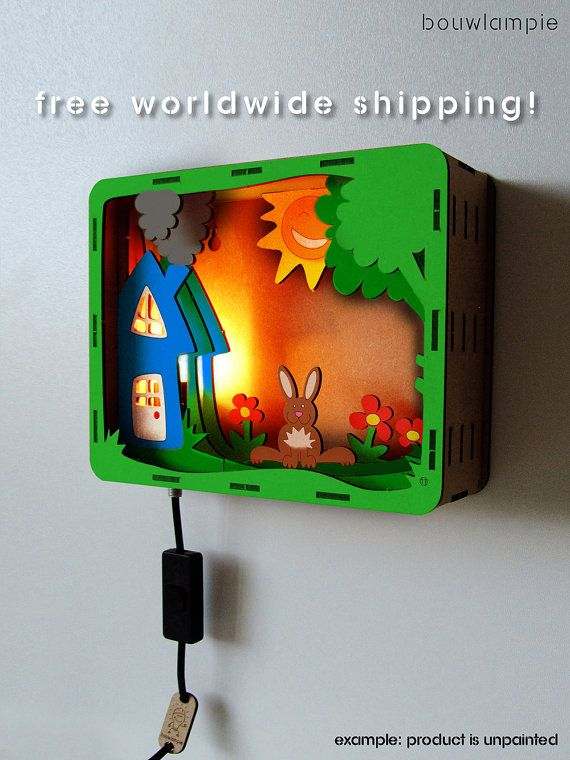 Rabbit Bouwlampie - CUSTOM Do It Yourself (DIY) Children's Night Light