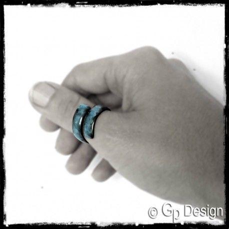 Bague pouce turquoise