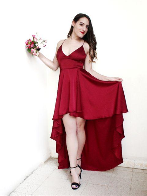Party  Dress  Deep V  Neck  Spaghetti  Strap  Sleeveless  Maxi  Dress   Asymmetrical  Crisscross  Backless  High  Low  Cami  Dress da7519eea