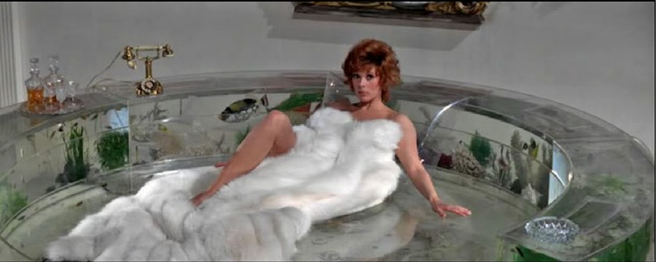 Jill St John On The Aquarium Bed From Quot Diamonds Are