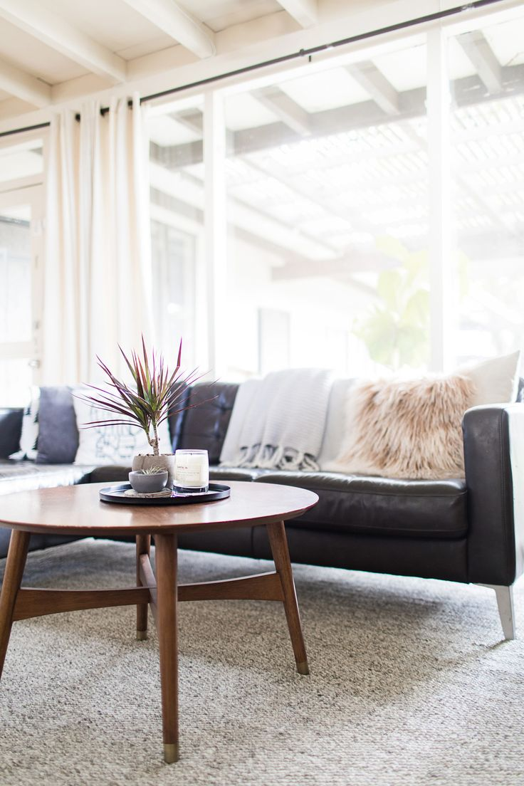 Spring decorating, light, bright, and airy living room.