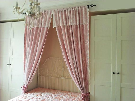 Girl S Bedroom In Pretty Pastels The Pink Pendant Light Pink