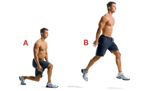 Do jump lunges as an active warmup. Adds weights to build explosive power and vertical leap ability.