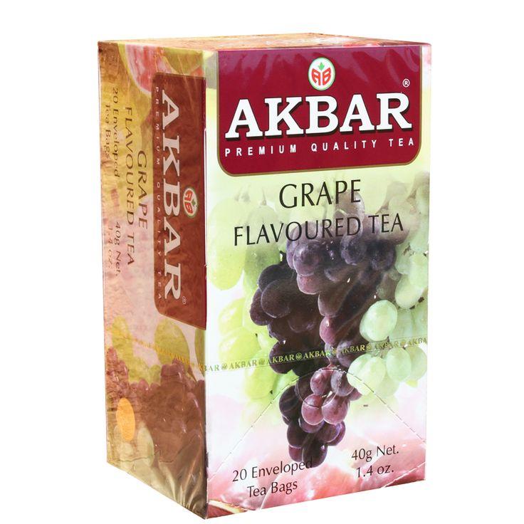 Té negro Akbar con sabor a uva
