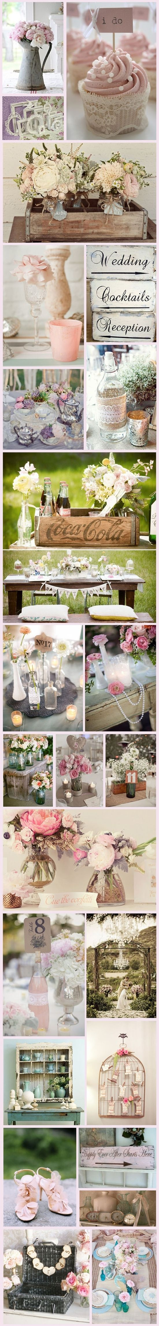 Vintage/Shabby chic wedding ideas