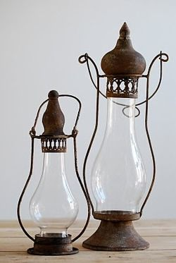 "vintage lanterns light space in ways so unique and welcoming....a ""must have""..in my thinking...I have 6..all different, mostly french"