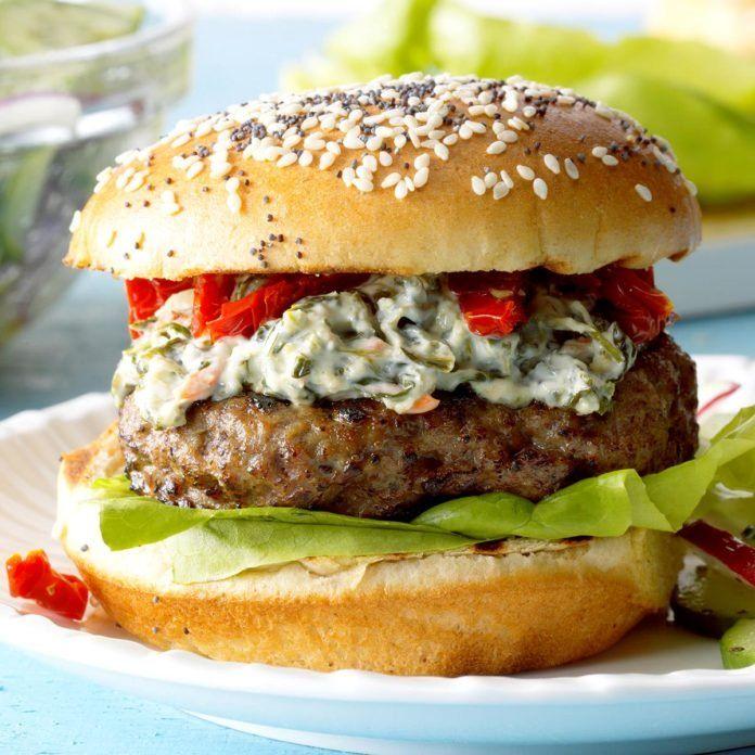 Spinach Tomato Burgers Recipe Tomato Recipes Burger Recipes Best Burger Recipe