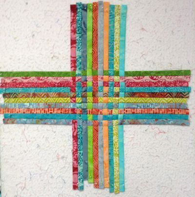 fabric weaving - tutorial makes basket but could make a new piece of fabric for other projects