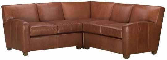"""Tuscany """"Designer Style"""" 3-Piece Contemporary Tight Back Leather Sectional Sofa (As"""