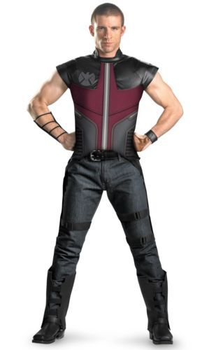 Come Back...!!! The Avengers Hawkeye  The Avengers Hawkeye Deluxe Adult X-Large Halloween Costume