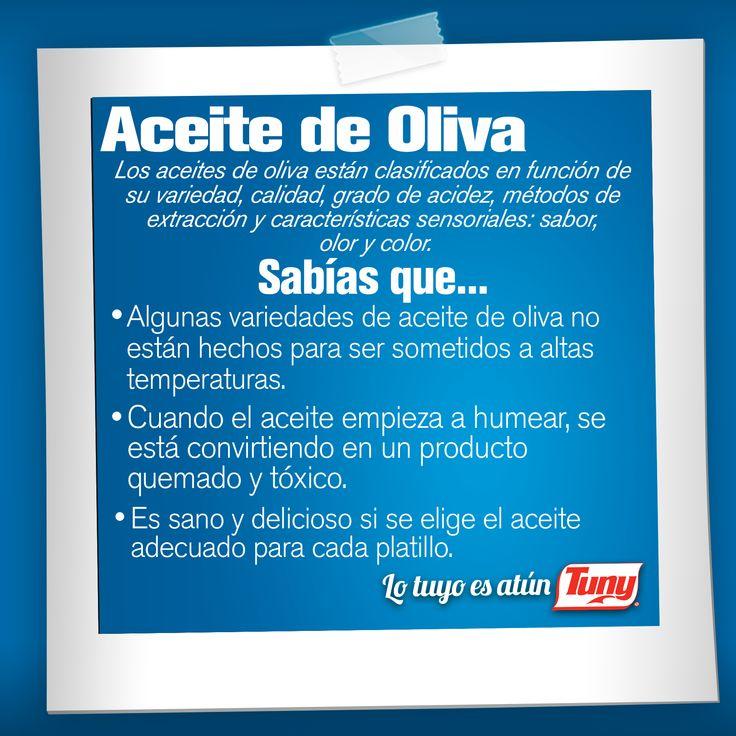 Descubre los beneficios que te aporta el aceite de Oliva y agrégalo a tus #recetas con #AtúnTuny   #sabiasque
