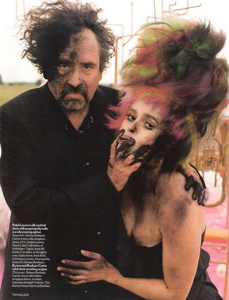 Tim Burton Collective News: Burton and Bonham Carter in Vogue Photoshoot