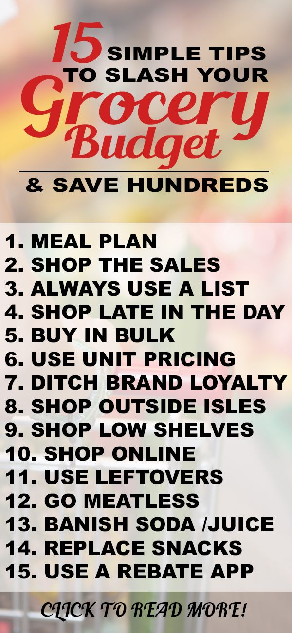 FRUGAL LIVING - save money on your grocery bill with these simple tips!