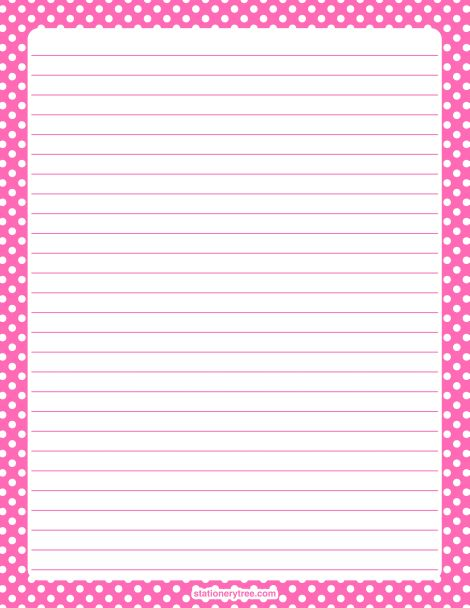 ... paper stationary printable writing papers snail mail graph paper polka