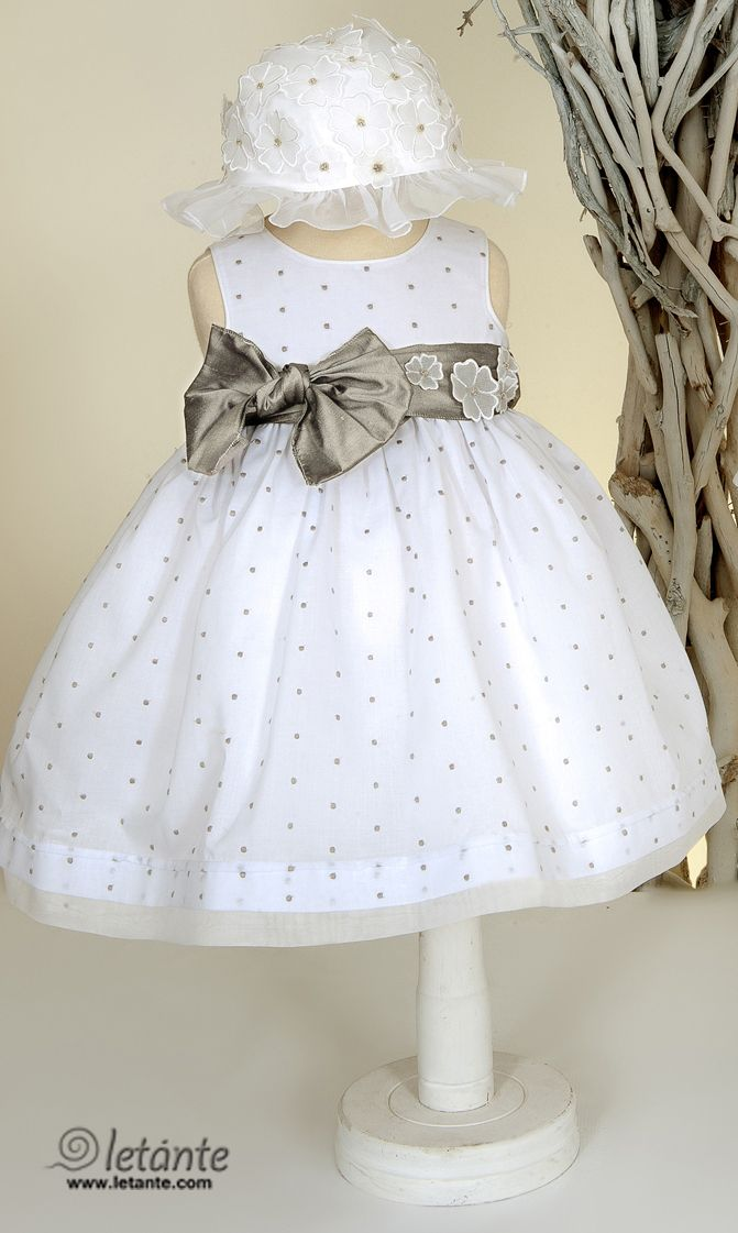 Christening gown - special occasion baby dress Βαπτιστικο φορεμα Letante