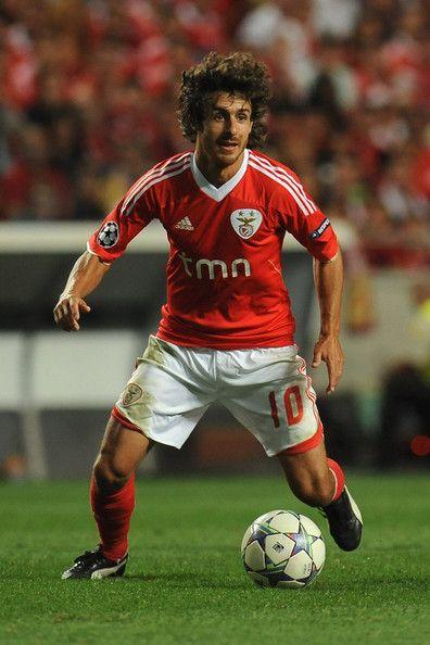 Pablo Aimar - SL Benfica v FC Twente - UEFA Champions League Play Off