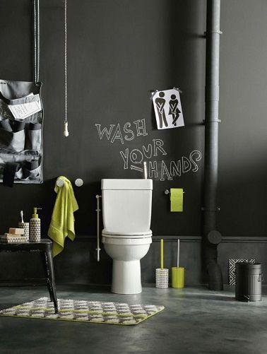 Un WC noir déco élégante et simple