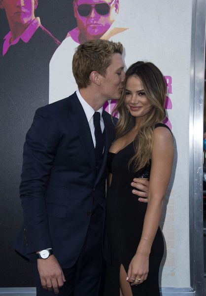 Actor Miles Teller and his girlfriend Keleigh Sperry attend the Warner Bros premiere of 'War Dogs.'
