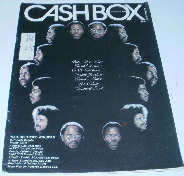 Cashbox Magazine War Band Certified Winners September 11 1976