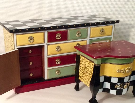 Jewelry Box // Painted Jewelry Box // by MicheleSpragueDesign