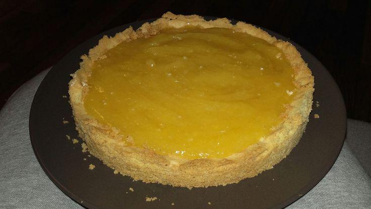 Tarte au citron : crème citron + palet breton