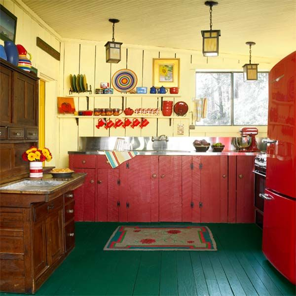 Best Paint For Pine Kitchen Cupboards: Kitchen (20's Bungalow Vintage Small