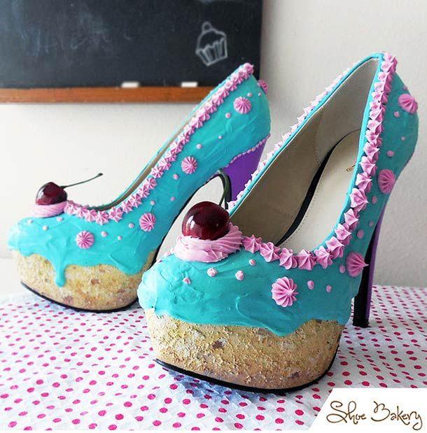 Une série de chaussures appétissantes imaginées parShoe Bakery, nées de la rencontre improbable entre le monde de la patisserie et l'univers du design de