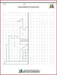 Symmetry / Mirror Image -- free printable worksheets (W2)