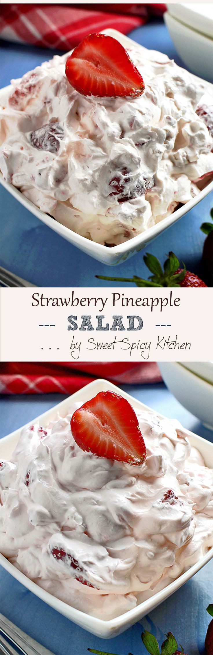 Quick and easy Strawberry Pineapple Fluff Salad recipe is perfect for any special occasions or holidays..Read More »