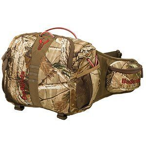 """Badlands Ambush Backpack (MOBU, 11 x 12 x 6.5-Inch) by Badlands Packs. $52.47. 6 pockets 3 compartments. Waterbottle pockets. Weighs only 1 pounds 8 ounces. Ultralight camo fanny pack 850 cubic inches. Air Track suspension. The Ambush is a no frills fanny pack that is all about performance. It is the best priced pack in the Badlands family.  It is covered by the famous Badlands warranty: """"We will fix it for free forever.  We don't care if you bought it at a second-hand..."""